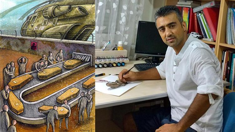 Aydın Doğan Uluslararası Karikatür Yarışması'nı Antalyalı karikatürsit Zaman kazandı