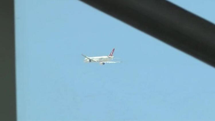 THY uçağı pisti pas geçti