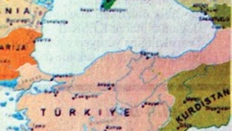 Ders kitabında harita rezaleti