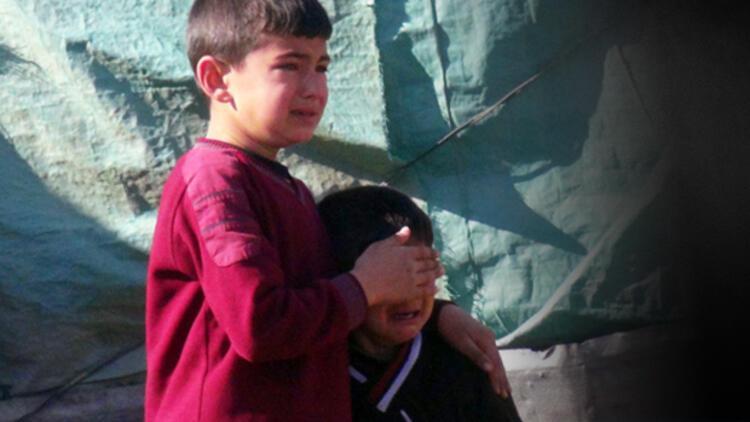 Evleri yanan çocukların gözyaşları