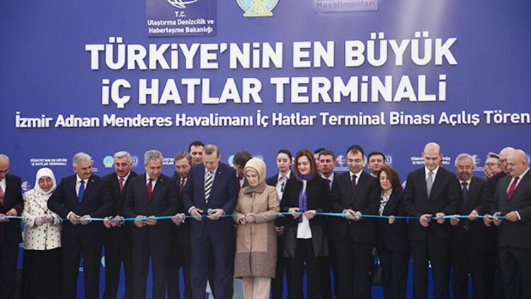 266 milon Euro'luk Adnan Menderes İç Hatlar Terminali hizmete girdi
