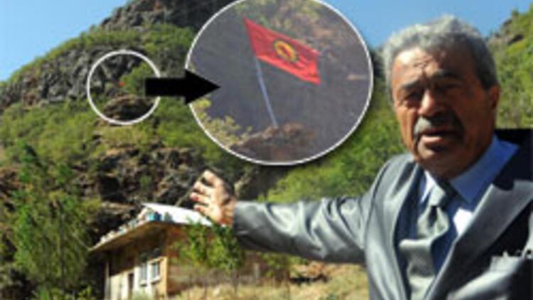 Kamer Genç PKK flamaları önünde konuştu