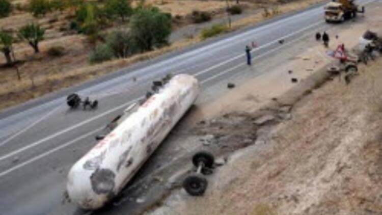 Malatya'da tanker kazası
