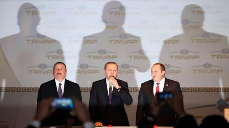Cumhurbaşkanları Erdoğan, Aliyev, Margvelaşvili Kars'ta TANAP'ın temelini attı