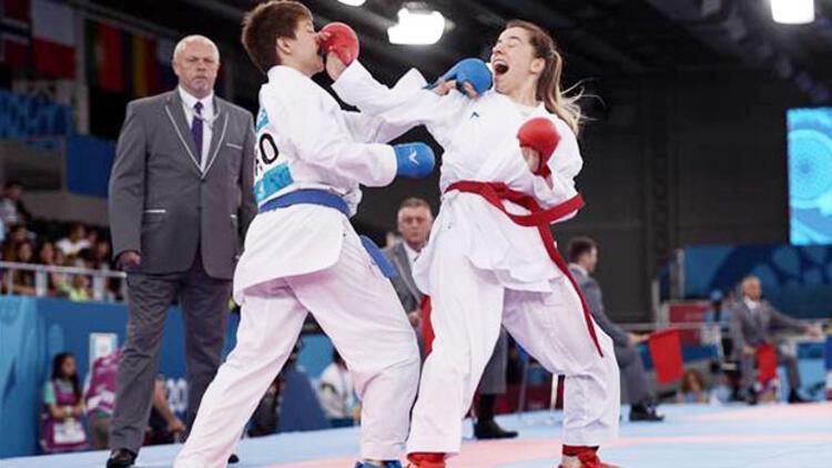 Bakü'de karateden 4 yarı final geldi