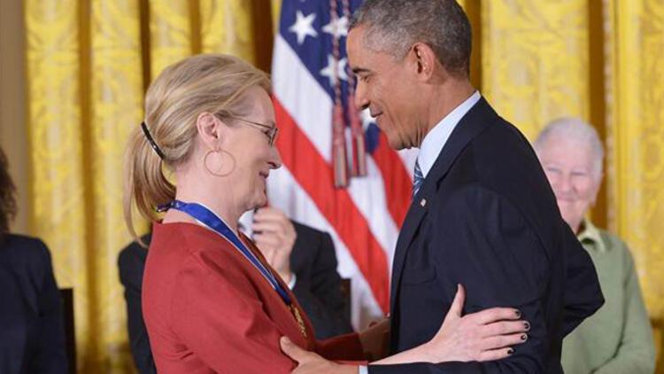 Obama Meryl Streep'e aşık olduğunu söyledi
