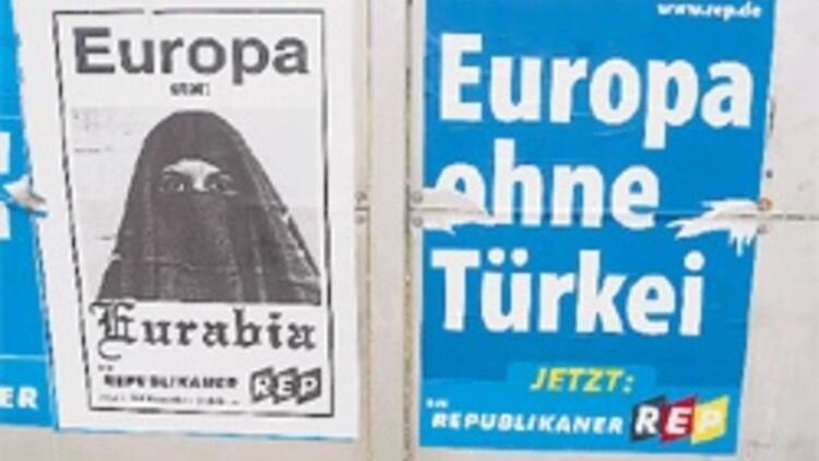 Peçeli posterle oy toplama çabası