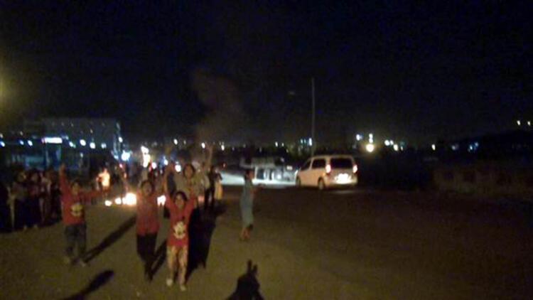 IŞİD protestosunda silah sesleri