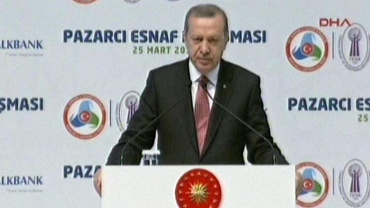 Erdoğan pazarcılara hitap etti