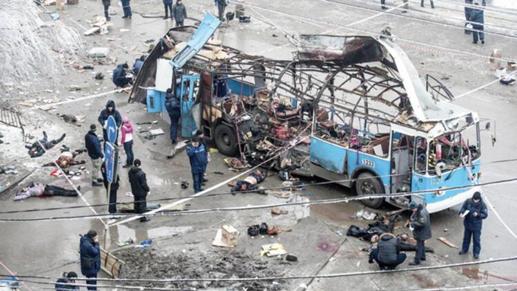 Rusya'nın Volgograd şehrinde troleybüse intihar saldırısı