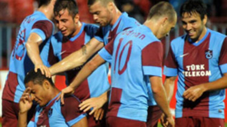 Trabzonspor, Belarus'ta avantaj peşinde