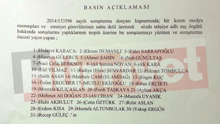 İşte 14 Aralık operasyonu gözaltı listesi