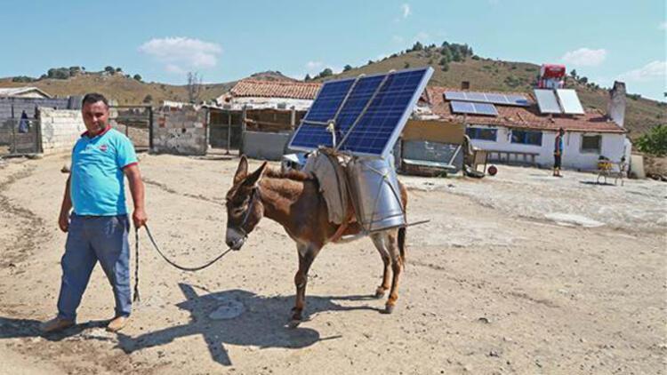 Eşek sırtında güneş enerjisi