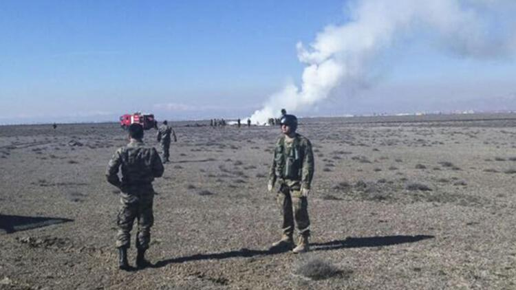 Konya'da askeri uçak düştü: 2 pilot şehit