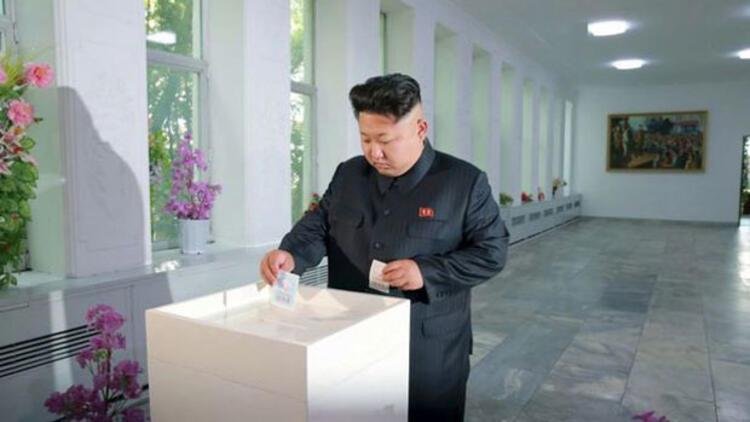 Kuzey Kore'de halkın yüzde 99.97'si sandığa gitti