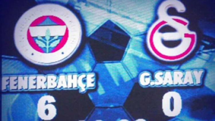 Fenerbahçe'den Galatasaray'a '6-0' videosu
