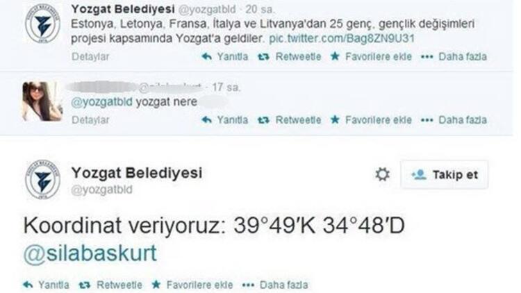 Yozgat Belediyesi'nden Twitter'ı sallayan tweet