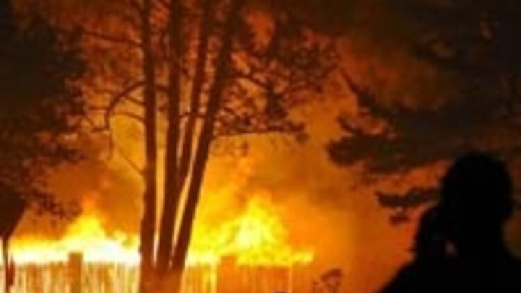 Ünlülerin evleri cayır cayır yanıyor