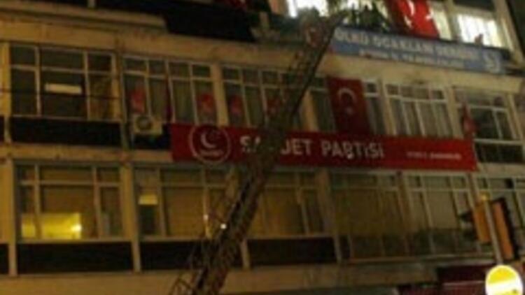 Aydın'da pankart gerginliği