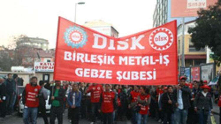 Gebze'de Disk'ten kıdem tazminatı için 7 bin kişilik yürüyüş