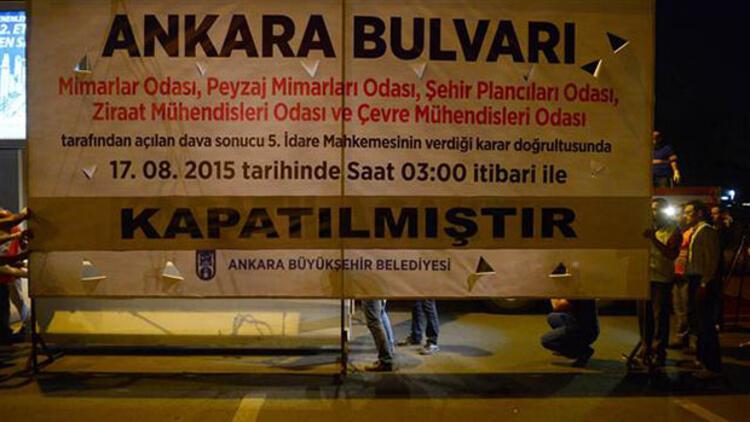 Ankara Bulvarı gece 03:00'da trafiğe kapandı