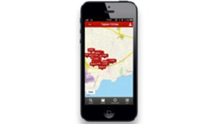 Haritadan emlak aranan ilk iPhone uygulaması