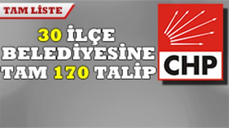 CHP'de genelge adayları