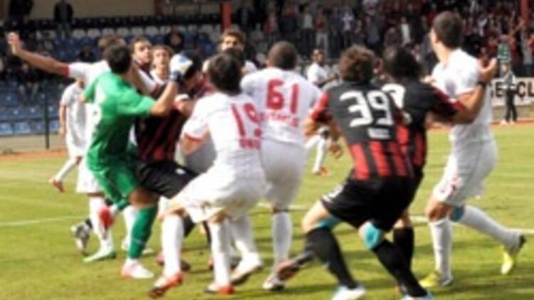 Kütahya'daki olaylı maçta kazanan olmadı