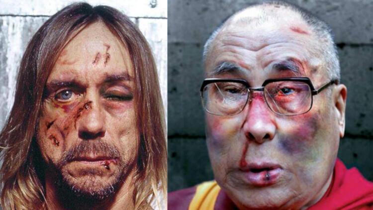 Iggy Pop ve Dalai Lama'yı dövdüler