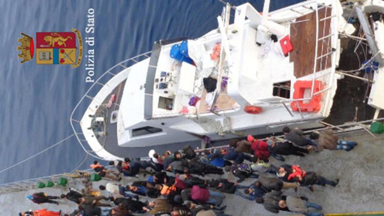 Göçmenler bu kez de Türk yatında yakalandılar