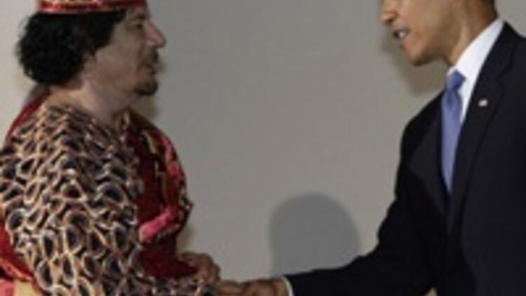 Kaddafi: Sen hep bizim oğlumuz olarak kalacaksın