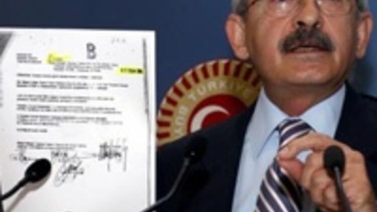 CHP'li Kılıçdaroğlu'ndan son belgeler