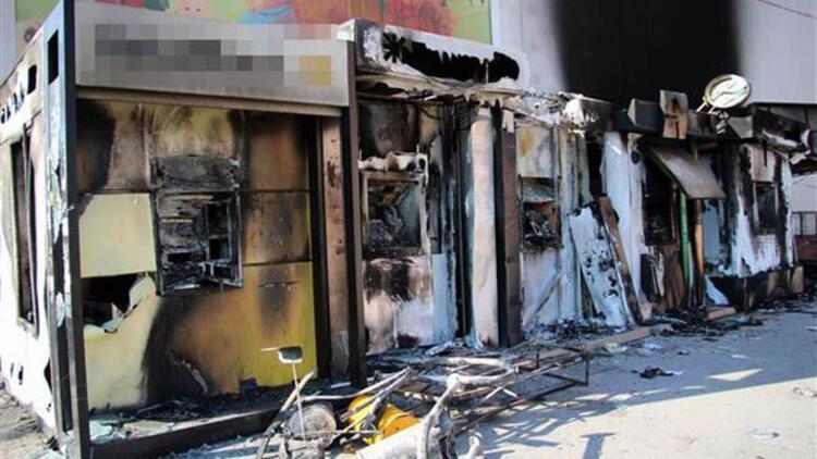 Batman'da 20 ATM yakıldı, 3 milyon lira kayıp