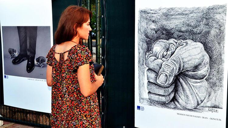 Aydın Doğan Karikatür Yarışması'nda dereceye giren eserler sergide