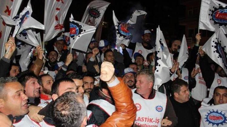 Diskten 5 bin kişilik 'Kıdem Tazminatı' protestosu