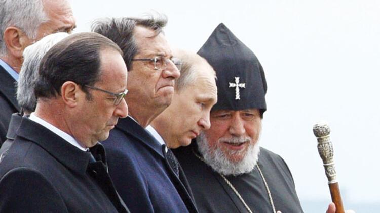 Erivan'da Putin'li Hollande'lı anma