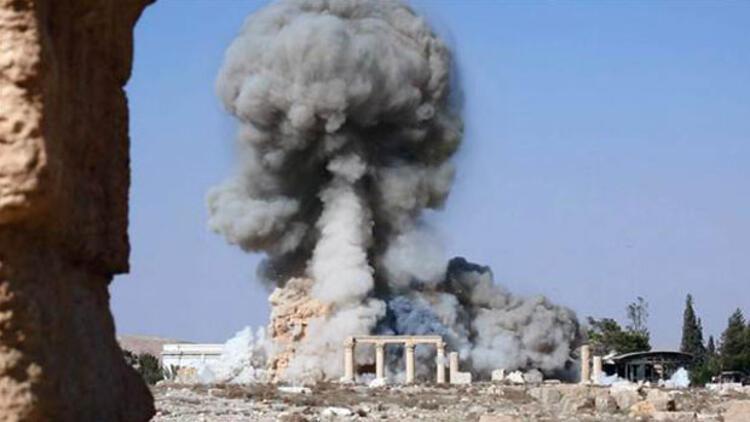 IŞİD, Palmira'da yıktığı tapınağın görüntülerini yayınladı