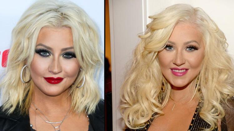 Christina Aguilera'nın yüzüne ne oldu