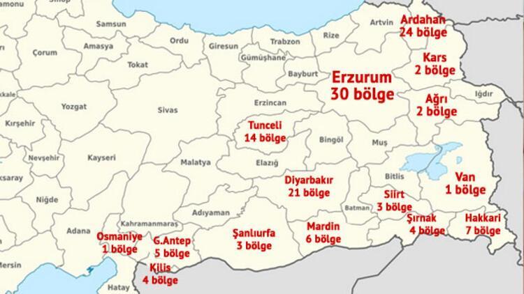 PKK'ya karşı doğu ve güneydoğuda 127 güvenlik bölgesi