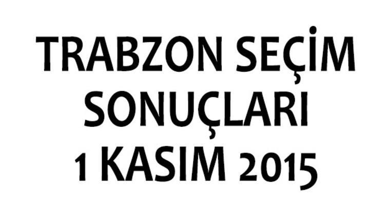 Trabzon seçim sonuçları 1 Kasım 2015 (milletvekili listeleri)