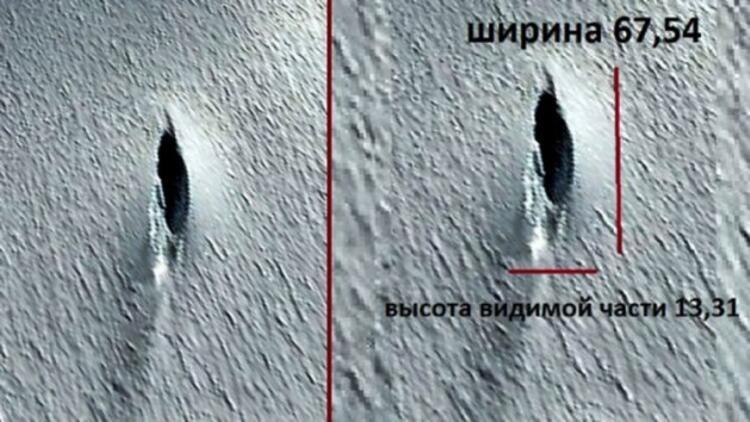 Antarktika'da 76 metre uzunluğunda uçan daire (UFO) tespit edildi