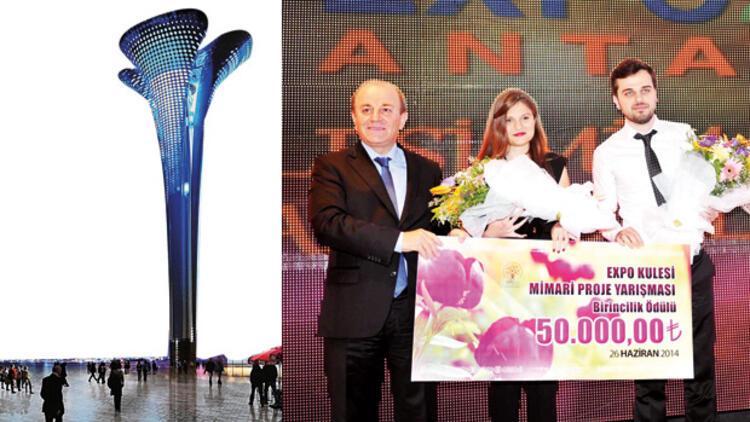 Antalya'ya palmiyeli Expo Tower