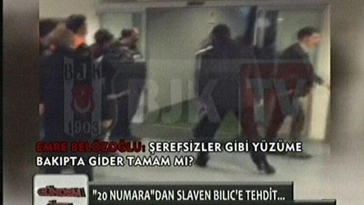 BJK TV Emre Belözoğlu ve Slaven Bilic arasındaki görüntüleri yayınladı