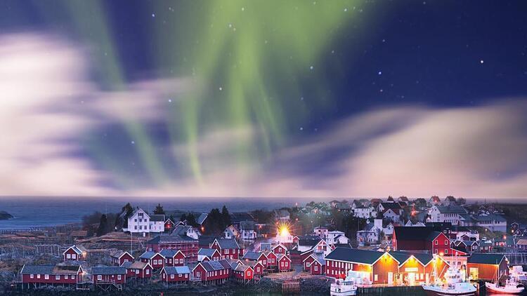 Laponya'da kuzey ışıklarını gördüm