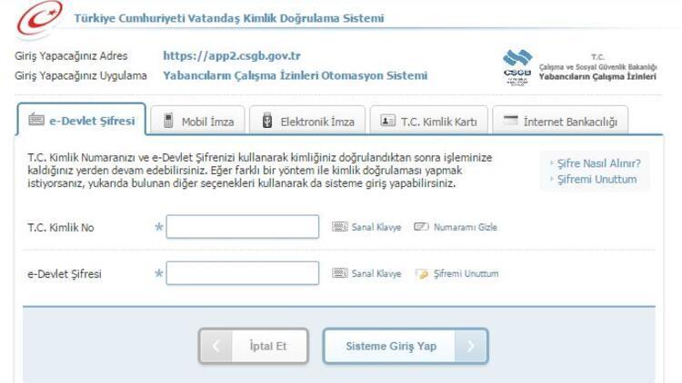 E-Devlet giriş ve sorgulama işlemleri