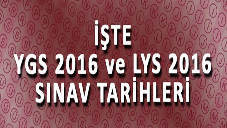 2016 YGS ve LYS Sınav Takvimi Belli Oldu