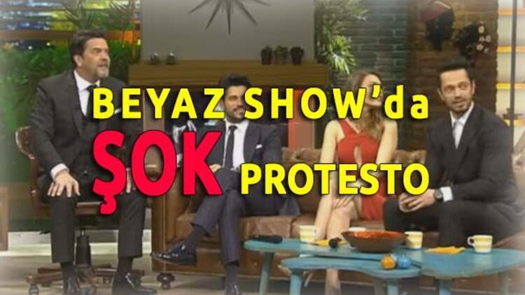 Beyaz Showda Şok Protesto