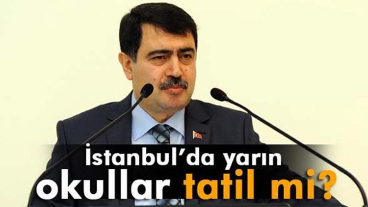 İstanbul'da yarın okullar tatil mi? Valilik açıkladı!