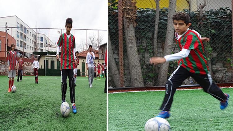 Karaciğer nakilli Birkan'ın futbol tutkusu