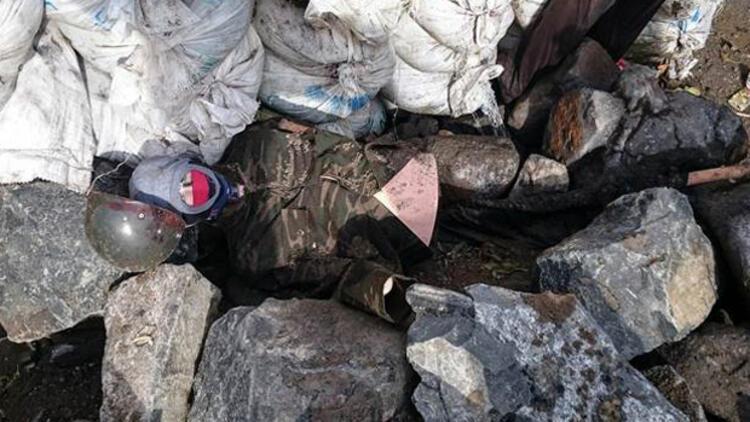 Cizre'de PKK'dan mankene asker kamuflajı taktiği